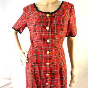 Vintage 80's Misty Lane Short Sleeve Maxi Dress
